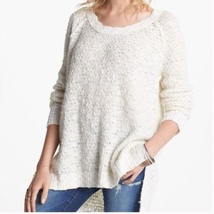 Free People Po Jeepster Cream Pullover Sweater